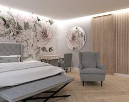 DOM BOJANO - Duża szara sypialnia małżeńska, styl nowoczesny - zdjęcie od INSIDERS - Homebook
