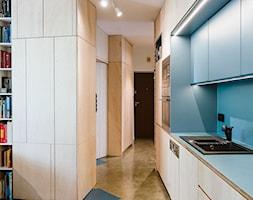Mieszkanie na Sielcach - Średnia otwarta szara niebieska kuchnia jednorzędowa - zdjęcie od Mili Młodzi Ludzie