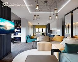 House Interior Design Ideas - Duży szary czarny salon z kuchnią z jadalnią - zdjęcie od tz_interior