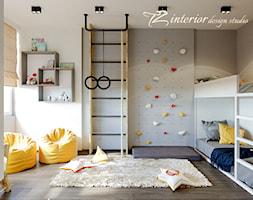 House Interior Design Ideas - Duży biały szary pokój dziecka dla chłopca dla dziewczynki dla rodzeń ... - zdjęcie od tz_interior - Homebook