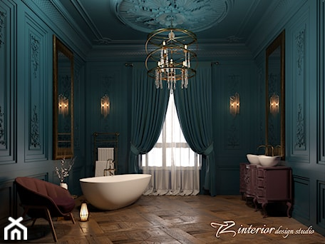 Beautiful bathroom designed by #TZ_interior - Duża szara łazienka w domu jednorodzinnym jako salon kąpielowy z oknem - zdjęcie od tz_interior