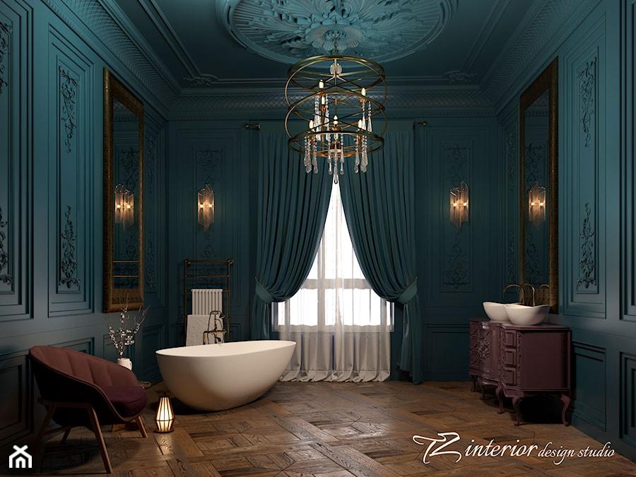 Beautiful bathroom designed by #TZ_interior - Duża szara łazienka w domu jednorodzinnym jako salon kąpielowy z oknem - zdjęcie od tz_interior