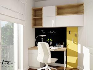 mieszkanie Przemyśl - Mały biały żółty czarny pokój dziecka dla chłopca dla dziewczynki dla ucznia dla nastolatka - zdjęcie od ARTE.NIEMCZEWSKA