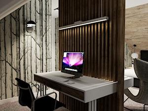 Sypialnia z domowym biurem - zdjęcie od ARTE.NIEMCZEWSKA