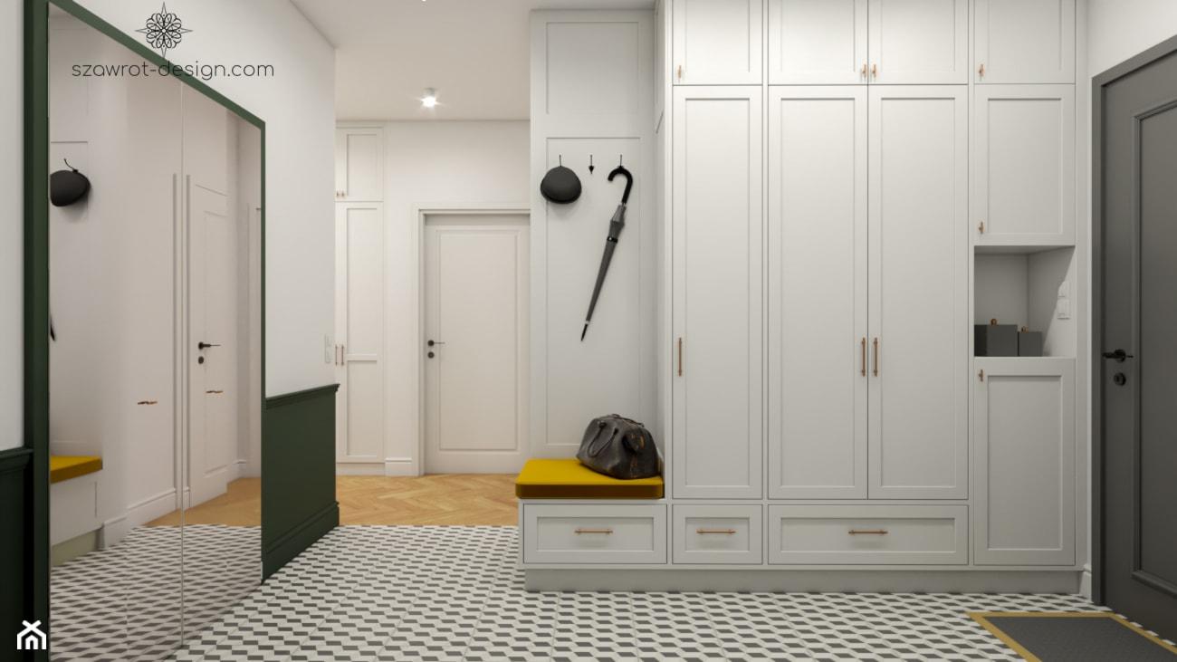 Zabudowa w przedpokoju z siedziskiem - zdjęcie od Szawrot Design - Homebook