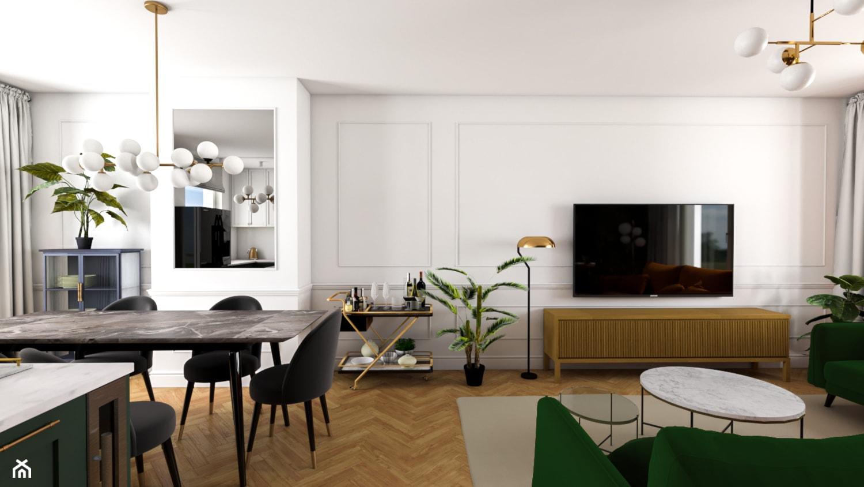 Salon ze sztukaterią - zdjęcie od Szawrot Design - Homebook