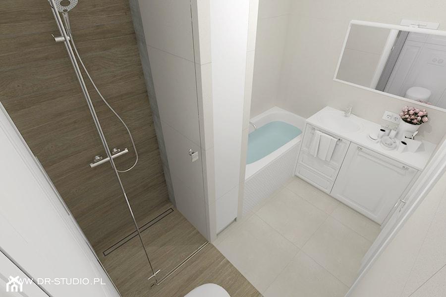 Mała łazienka Płytki Drewnopodobne Zdjęcie Od Dr Studio
