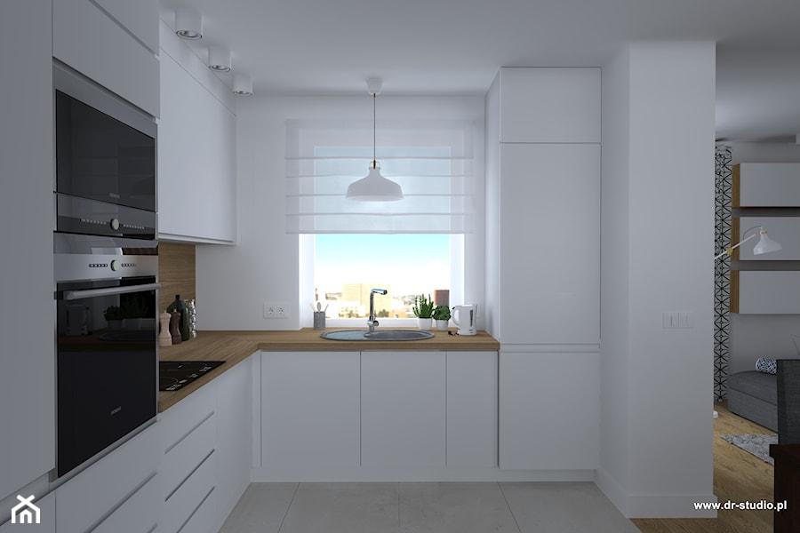 Kuchnia Biała Z Drewnem Drewniany Blat Zdjęcie Od Dr Studio