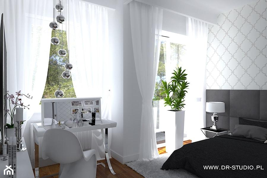 Toaletka W Sypialni Sypialnia Biało Szara Zdjęcie Od Dr