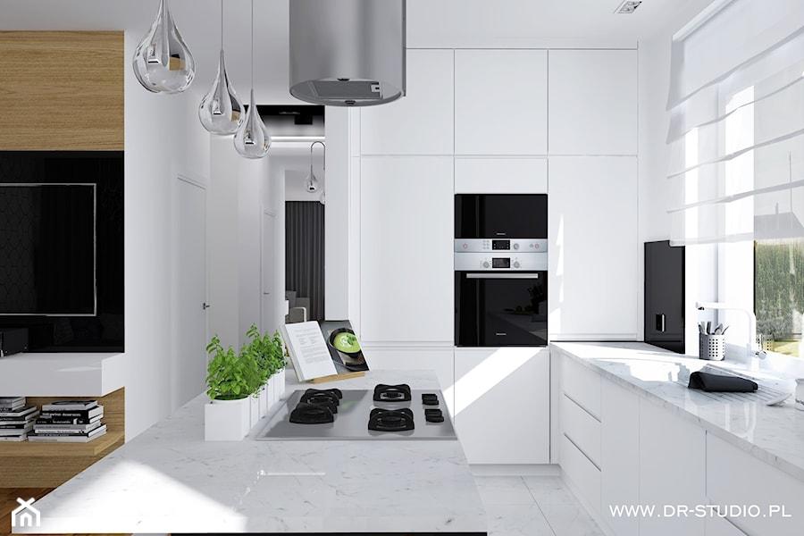 kuchnia bialo czarna  zdjęcie od DR STUDIO -> Kuchnia Bialo Czarna Brazowa