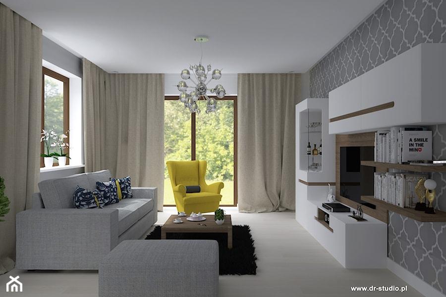 nowoczesny salon bia o szary najlepsze pomys y na wystr j domu i inspiracje meblami. Black Bedroom Furniture Sets. Home Design Ideas
