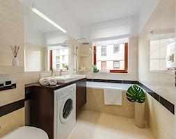 Obrzeźna FLIP - Średnia łazienka w bloku w domu jednorodzinnym z oknem, styl nowoczesny - zdjęcie od Fotownętrza - Homebook