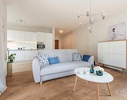 Obrzeźna FLIP - Mały szary salon, styl skandynawski - zdjęcie od Fotownętrza - Homebook