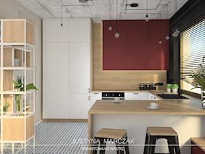 Dom z antresolą - kuchnia - zdjęcie od Justyna Marczak Projektowanie Wnętrz