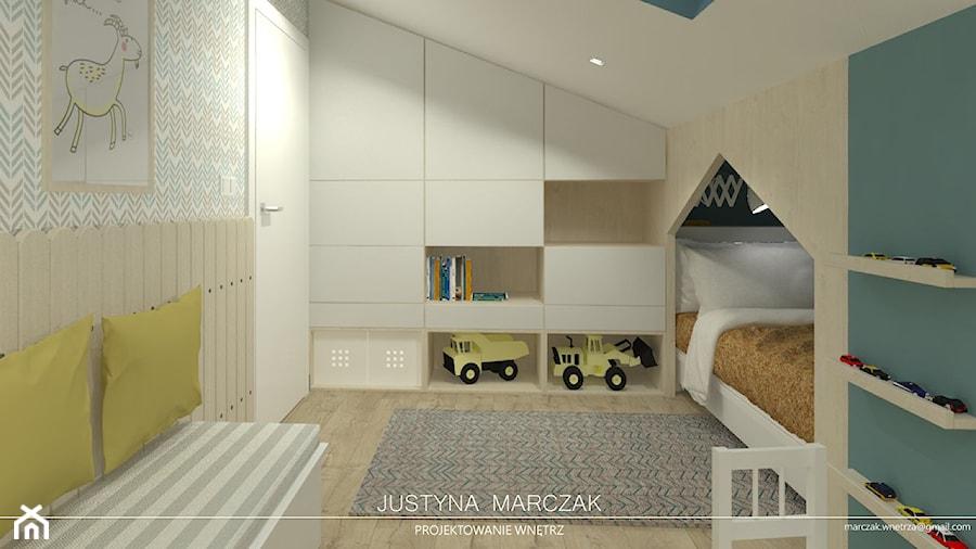 Sielski pokój dziecka na poddaszu - zdjęcie od Justyna Marczak Projektowanie Wnętrz