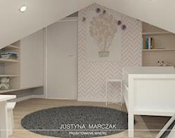 Pokój dziewczynki na poddaszu - zdjęcie od Justyna Marczak Projektowanie Wnętrz