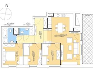 Lokal mieszkalny - schemat umeblowania.