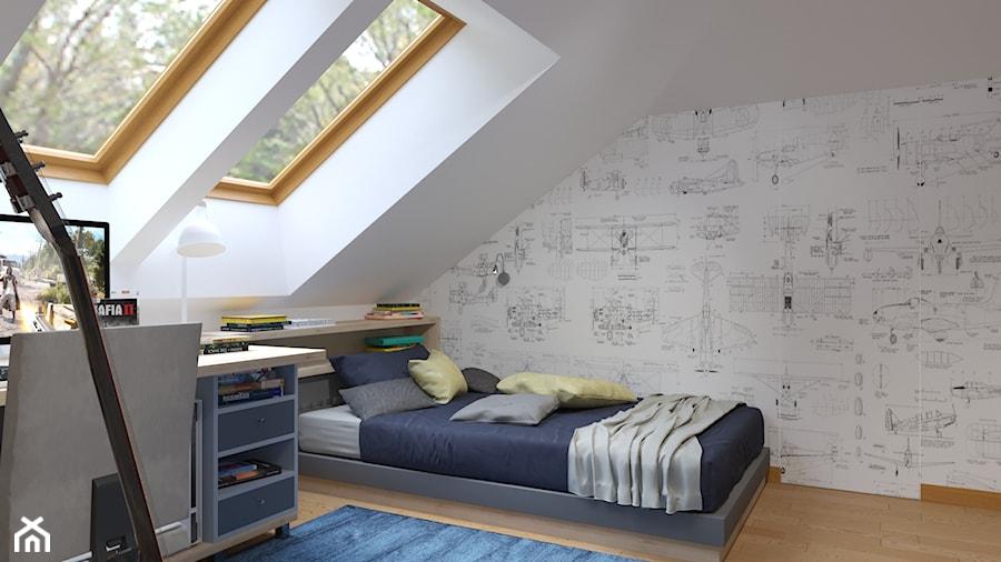 pokoj dla braci - Średni biały pokój dziecka dla chłopca dla nastolatka, styl nowoczesny - zdjęcie od Rene Design