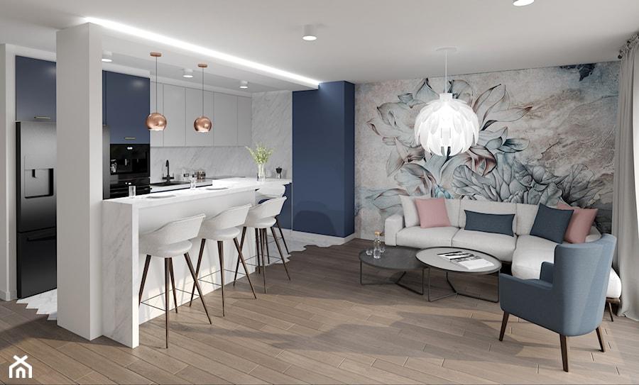 Salon z kuchnią - zdjęcie od M2 Architektura Marta Szolczewska