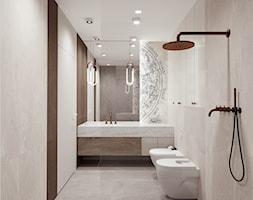 Łazienka z tapetą - zdjęcie od M2 Architektura Marta Szolczewska - Homebook