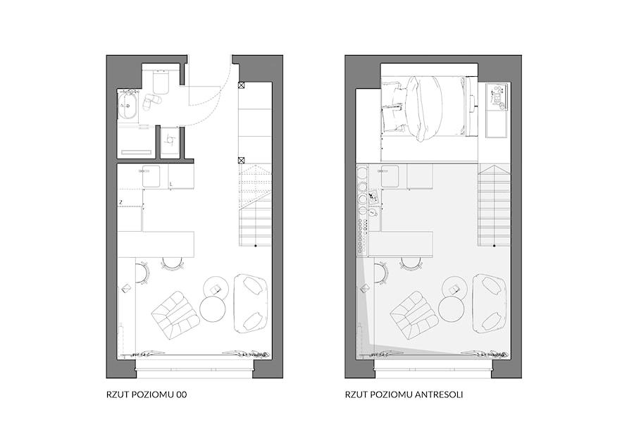 Apartament eklektyczny MINIMAXY - Salon, styl nowoczesny - zdjęcie od M2 Architektura Marta Szolczewska