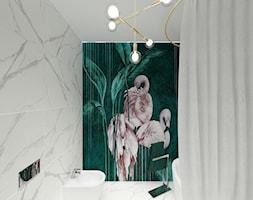 Modern glam - Mała szara zielona łazienka w bloku w domu jednorodzinnym bez okna - zdjęcie od Studio VANKKA.design