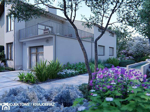 Monochromatyczny, geometryczny ogród