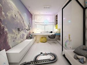 jazz house - Duży kolorowy pokój dziecka dla chłopca dla malucha, styl minimalistyczny - zdjęcie od Otwarte Studio Sztuka