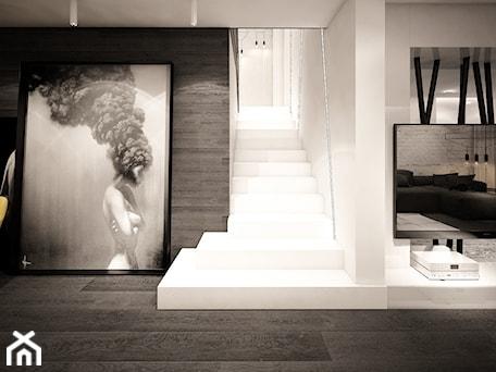 Aranżacje wnętrz - Schody: jazz house - Średnie wąskie schody jednobiegowe betonowe, styl minimalistyczny - Otwarte Studio Sztuka. Przeglądaj, dodawaj i zapisuj najlepsze zdjęcia, pomysły i inspiracje designerskie. W bazie mamy już prawie milion fotografii!
