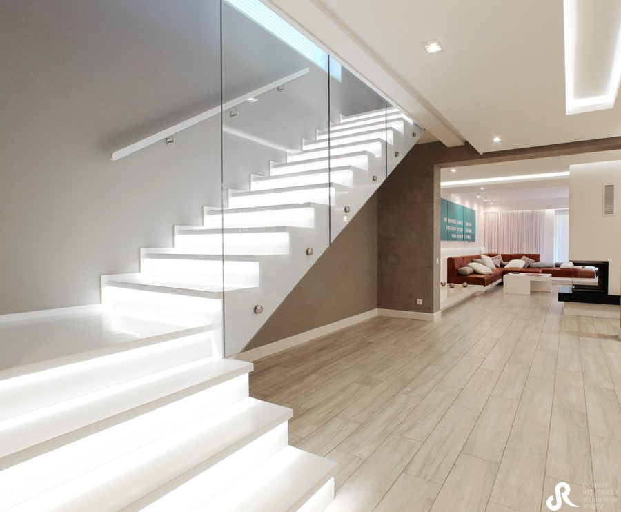 Aranżacje wnętrz - Schody: REALIZACJA PAJECZNO - Duże wąskie schody dwubiegowe drewniane, styl minimalistyczny - Otwarte Studio Sztuka. Przeglądaj, dodawaj i zapisuj najlepsze zdjęcia, pomysły i inspiracje designerskie. W bazie mamy już prawie milion fotografii!