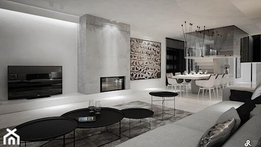 salon styl minimalistyczny. Black Bedroom Furniture Sets. Home Design Ideas