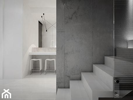 Aranżacje wnętrz - Schody: Dom B - projekt wnetrza - Średnie wąskie schody jednobiegowe betonowe, styl minimalistyczny - Otwarte Studio Sztuka. Przeglądaj, dodawaj i zapisuj najlepsze zdjęcia, pomysły i inspiracje designerskie. W bazie mamy już prawie milion fotografii!