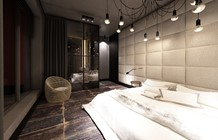 Sypialnia styl Industrialny - zdjęcie od Otwarte Studio Sztuka