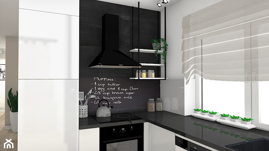 Projekt wnętrza kuchni i łazienki - Kuchnia - zdjęcie od projektygaweda