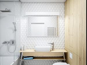 DMO - Średnia łazienka w bloku w domu jednorodzinnym bez okna, styl nowoczesny - zdjęcie od Cutout Architects