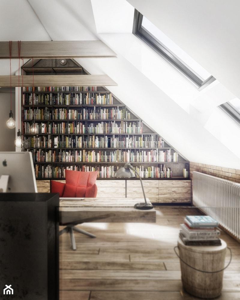 Aranżacje wnętrz - Biuro: RAD_WAW - Duże białe biuro pracownia na poddaszu, styl nowoczesny - Cutout Architects. Przeglądaj, dodawaj i zapisuj najlepsze zdjęcia, pomysły i inspiracje designerskie. W bazie mamy już prawie milion fotografii!