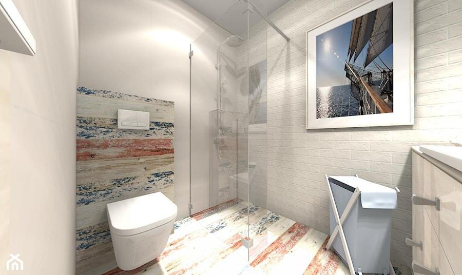 Mała łazienka W Bloku Styl Marines Zdjęcie Od Bathroom