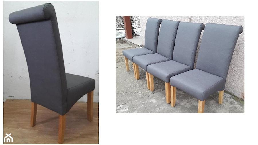 Szarne Tapicerowane Krzesla Zdjecie Od Atk Design Tomasz Kudla