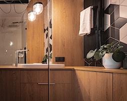 Mieszkanie z kostką Poznań - Łazienka, styl minimalistyczny - zdjęcie od zonaarchitekci - Homebook