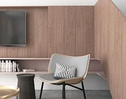 Mieszkanie lastryko Poznań - Średni biały salon, styl minimalistyczny - zdjęcie od zonaarchitekci - Homebook
