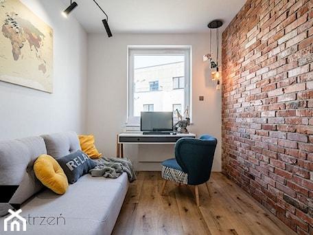 LOFTOVE LOVE - Mały biały pokój dziecka dla ucznia dla nastolatka, styl industrialny - zdjęcie od Przestrzen Pracownia architektury wnetrz Krystyna Sabada