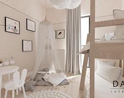 Mieszkanie na Wilanowie 2 - Mały beżowy różowy pokój dziecka dla dziewczynki dla rodzeństwa dla malucha, styl skandynawski - zdjęcie od Dash Interiors