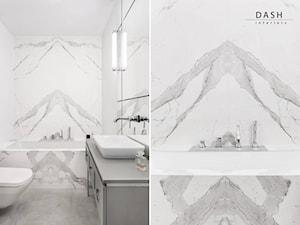Mieszkanie pod Warszawą - Średnia szara łazienka, styl nowoczesny - zdjęcie od Dash Interiors
