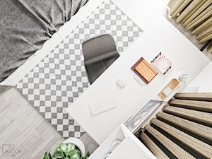 Minimal Green - Średni biały pokój dziecka dla ucznia dla nastolatka, styl minimalistyczny - zdjęcie od LINEUP STUDIO