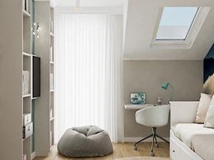 Neoklasyk Pod Krakowem - Średni biały beżowy pokój dziecka dla dziewczynki dla nastolatka, styl tradycyjny - zdjęcie od LINEUP STUDIO