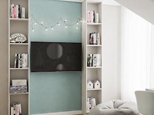 Neoklasyk Pod Krakowem - Mały biały miętowy pokój dziecka dla dziewczynki dla nastolatka, styl tradycyjny - zdjęcie od LINEUP STUDIO