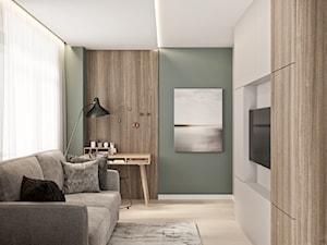 Mieszkanie w Mińsku - Średnie zielone biuro kącik do pracy w pokoju, styl nowoczesny - zdjęcie od LINEUP STUDIO