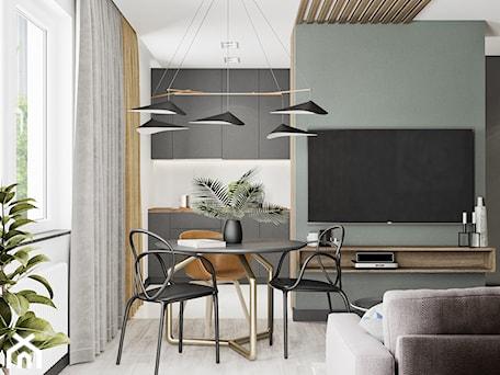 Aranżacje wnętrz - Salon: Minimal Green - Średni szary biały salon z kuchnią z jadalnią, styl minimalistyczny - LINEUP STUDIO. Przeglądaj, dodawaj i zapisuj najlepsze zdjęcia, pomysły i inspiracje designerskie. W bazie mamy już prawie milion fotografii!