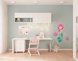 Dom jednorodzinny pod Krakowem - Średni biały szary pokój dziecka dla dziewczynki dla ucznia dla ma ... - zdjęcie od LINEUP STUDIO - Homebook