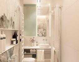 Dom jednorodzinny pod Krakowem - Średnia biała łazienka w bloku w domu jednorodzinnym bez okna, st ... - zdjęcie od LINEUP STUDIO - Homebook